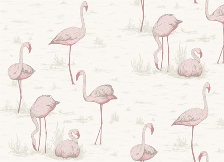 Cole & Son Contemporary Restyled обои Flamingos